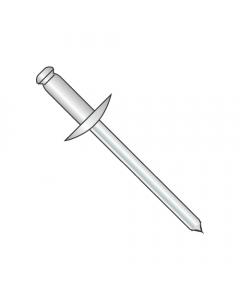 "3/16"" x .06""-.25"" (#64) Large Flange Blind Rivets / Stainless Steel Body / Steel Mandrel / Max Barrel Length: .450"" (Quantity: 3,000 pcs)"