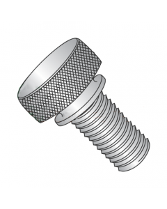 """4-40 X 1/2"""" Knurled Thumb Nuts / Washer Face / 303 Stainless Steel (Quantity: 100 pcs)"""