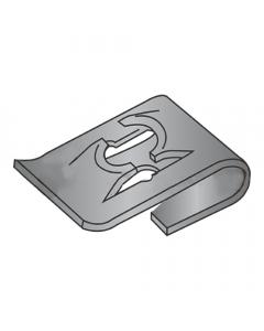 (#10) C8049-10-4 Tinnerman Style J-Type Spring Nuts / Steel / Black Phosphate (Quantity: 1,000 pcs)