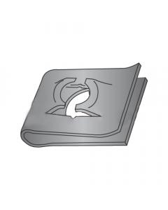 (#4) #4 Tinnerman Style U-Type Spring Nuts / Steel / Black Phospate (Quantity: 3000 pcs)