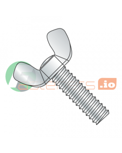 """8-32 x 1/2"""" Type A / Cold Forged Wing Screws / Steel / Zinc (Quantity: 200 pcs)"""