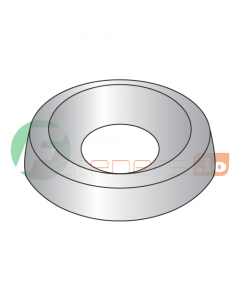 """#4 Countersunk Finishing Washers / Steel / Nickel / Outer Diameter: 3/8"""" / Thickness: 3/32"""" (Quantity: 10,000 pcs)"""