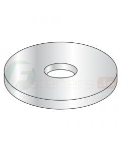 "#2 Flat Washers / Type B Wide Series / Steel / Zinc / Outer Diameter: .339"" - .344"" / Thickness Range: .028"" - .036"" (Quantity: 10,000 pcs)"