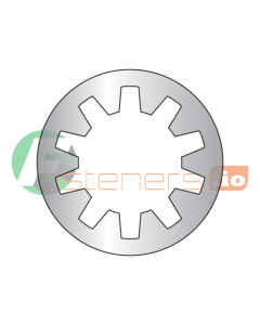 """#4 Internal Tooth Lock Washers / 18-8 Stainless Steel / Outer Diameter: .245"""" - .270"""" / Thickness Range : .012"""" - .018"""" (Quantity: 10,000 pcs)"""