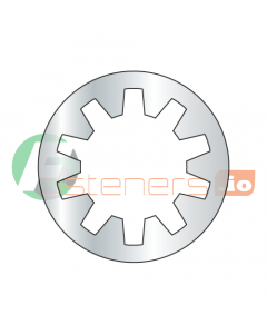 """1/8 PIPE Internal Tooth Lock Washers / Steel / Zinc / Outer Diameter: .595"""" - .615"""" / Thickness Range : .017"""" -. 022"""" (Quantity: 6,000 pcs)"""