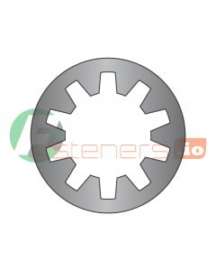 "#5 Internal Tooth Lock Washers / Steel / Black Zinc / Outer Diameter: .255"" - .280"" / Thickness Range : .014"" - .020"" (Quantity: 10,000 pcs)"