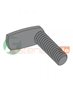"""8-32 x 3/8"""" Weld Screws / L-Shaped 90 Deg. Spade / Steel / Plain (Quantity: 1,000 pcs)"""