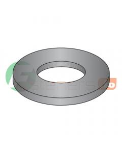 "#4 Machine Screw Flat Washers / Steel / Black Oxide / Outer Diameter: .276"" - .286"" / Thickness Range : .022"" - .030"" (Quantity: 10,000 pcs)"