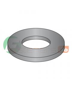 "#3 Machine Screw Flat Washers / Steel / Black Zinc / Outer Diameter: .245"" - .255"" / Thickness Range : .018"" - .023"" (Quantity: 10,000 pcs)"