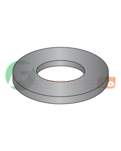 "#8 Machine Screw Flat Washers / Steel / Black Zinc / Outer Diameter: .370"" - .380"" / Thickness Range : .028"" - .036"" (Quantity: 10,000 pcs)"
