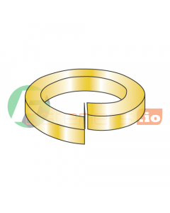 """3/8"""" High Alloy Split Lock Washers / Alloy Steel / Zinc Yellow / Outer Diameter: .680"""" / Thickness: .094"""" (Quantity: 1,000 pcs)"""