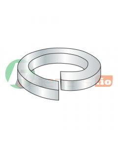 "#5 Medium Split Lock Washers / Steel / Zinc / Outer Diameter: .236"" / Thickness: .031"" (Quantity: 30,000 pcs)"