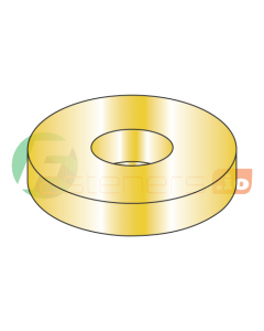 "#10 SAE Thru Hard Washers / Steel / Zinc Yellow / Outer Diameter: 1/2"" / Thickness Range : .036"" - .065"" (Quantity: 5,000 pcs)"