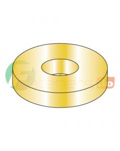 "#12 SAE Thru Hard Washers / Steel / Zinc Yellow / Outer Diameter: 9/16"" / Thickness Range : .051"" - .080"" (Quantity: 5,000 pcs)"