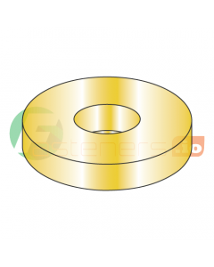 """1 1/4"""" SAE Flat Washers / Steel / Zinc Yellow / Outer Diameter: 2 1/4"""" / Thickness Range : .136"""" - .192"""" (Quantity: 50 Lbs, about 335 pcs)"""