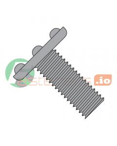 """10-24 x 3/4"""" Weld Screws / Nibs On Top of Head / Steel / Plain (Quantity: 3,000 pcs)"""