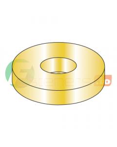 "1/4"" USS Thru Hard Washers / Steel / Zinc Yellow / Outer Diameter: 3/4"" / Thickness Range : .051"" - .080"" (Quantity: 2,000 pcs)"