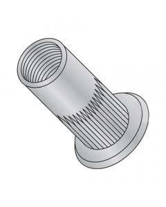 8-32 (Max Grip .080) Large Flange Ribbed Blind Threaded Inserts / Aluminum Alloy 5056 (Quantity: 1,000 pcs)