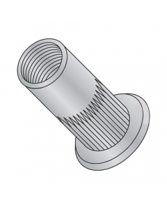 8-32 (Max Grip .130) Large Flange Ribbed Blind Threaded Inserts / Aluminum Alloy 5056 (Quantity: 1,000 pcs)