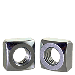 7/16-14 Regular Square Nuts / Grade 2 / Zinc (Quantity: 100 pcs)