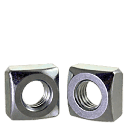 "1/4""-20 Square Nuts Grade 2 Steel / Zinc Plated (Quantity: 250)"