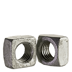 7/16-14 Regular Square Nuts / Grade 2 / Hot Dip Galvanized (Quantity: 100 pcs)