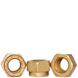 1 1/8-12 Non Flanged Stover Style Hex Collar Locknuts / Grade 9 / Cadmium Yellow Quantity: 8 pcs)