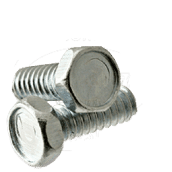 "12-24 x 1 1/2"" Machine Screws / Unslotted / Hex / Steel / Zinc Plating (Quantity: 100 pcs)"