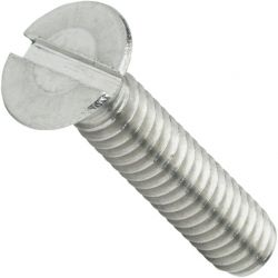 M3.5-0.60 x 8mm Machine Screws / Slotted / Flat Head / 18-8 Stainless Steel (Quantity: 10000 pcs)