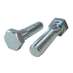 M12-1.75 x 100mm Hex Cap Screws, Metric Class 10.9 Zinc Plated Steel (Quantity: 25)