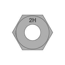 1 5/8-8 Heavy Hex Nuts / A194 Grade 2H / Hot Dip Galvanized (Quantity: 25 pcs)