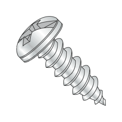 "#4-24 x 1/4"" Type AB Self-Tapping Screws / Combo / Pan Head / Steel / Zinc Plating (Quantity: 10000 pcs)"