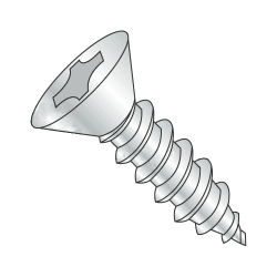 "#12-14 x 1 1/2"" Type AB Self-Tapping Screws / Phillips / Flat Head / Steel / Zinc Plating (Quantity: 3400 pcs)"