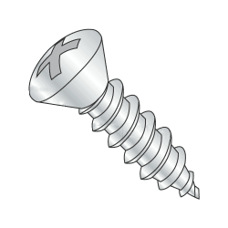 "#8-18 x 3/8"" Type AB Self-Tapping Screws / Phillips / Oval Head / Steel / Zinc Plating (Quantity: 7500 pcs)"
