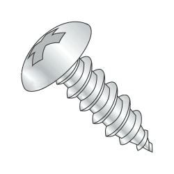 "#8-18 x 1/2"" Type AB Self-Tapping Screws / Slotted / Truss Head / Steel / Zinc Plating (Quantity: 22500 pcs)"