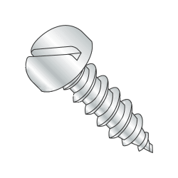 "#7-19 x 1/4"" Type AB Self-Tapping Screws / Slotted / Pan Head / Steel / Zinc Plating (Quantity: 10000 pcs)"