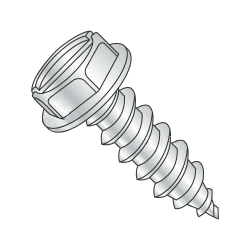 "1/4""-14 x 1/2"" Type AB Self-Tapping Screws / Slotted / Hex Washer / Steel / Zinc Plating (Quantity: 3300 pcs)"