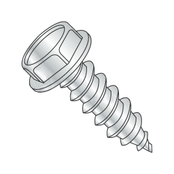 "3/8""-12 x 1"" Type AB Self-Tapping Screws / Unslotted / Hex Washer / Steel / Zinc Plating (Quantity: 700 pcs)"