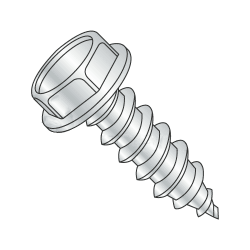 "5/16""-9 x 3/4"" Type A Self-Tapping Screws / Slotted / Hex Washer / Steel / Zinc Plating (Quantity: 25 pcs)"