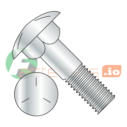 "7/8-9 x 7 1/2"" Carriage Bolts / Partial Thread / Grade 5 / Zinc / Partially Threaded / 6"" of Thread (Quantity: 25 pcs)"