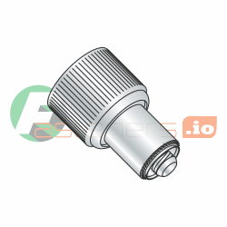 Captive Panel Screw - Retractable Press-In Style - Slotted Recess, #10-32 (Thread Size) x 0.036 (Panel Thickness) x 0.220 (Male Thread Length) Made in U.S.A., Natural Finish  (QUANTITY: 20