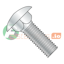 "8-32 x 1"" Carriage Bolts / Full Thread / Steel / Zinc (Quantity: 5,000 pcs)"