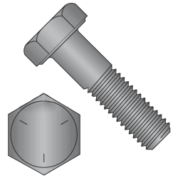 "3/8""-24 x 1/2"" Hex Cap Screws Grade 5 Plain Steel  (Quantity: 100 pcs) Made In USA, Fully Threaded UNF Fine Thread (Thread Size: 3/8"") x (Length: 1/2"")"