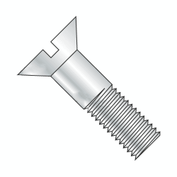 "7/8""-9 x 2 1/2"" Slotted Head Cap Screws / Flat Countersunk / Grade 2 / Slotted Drive / Steel / Plain Finish (Quantity: 15 pcs)"