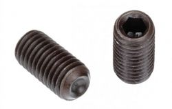"Socket Set Screw, Cup Point, 1-14 x 4"", Alloy Steel, Black Oxide, Hex Socket (Quantity: 50)"