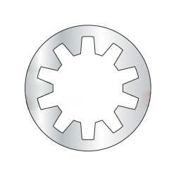M3.5 Internal Tooth Lock Washers / Steel / Zinc / DIN6797J / Outer Diameter: 7.1 - 7.5 mm / Thickness Range : .415 - .485 mm (Quantity: 10,000 pcs)