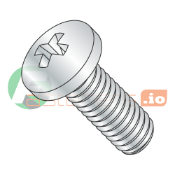M1.6-0.35 x 12 mm Machine Screws / Phillips / Pan Head / Steel / Zinc / DIN7985A (Quantity: 8,000 pcs)