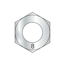M14-1.50 Finished Hex Nuts / Metric Class 8 Steel / Zinc Plated DIN 934 (Quantity: 400)