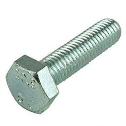 M8-1.0 x 25mm Hex Cap Screws, Metric Class 8.8 Zinc Plated Steel (Quantity: 100)