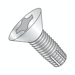 "#6-32 x 3/4"" Type F Thread Cutting Screws / Flat Head / Phillips / Steel / Zinc Plating (Quantity: 12000 pcs)"